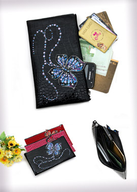 130 B-LW ButterflySlim Zip Long Wallet/Pouchg슬림지퍼장지갑/파우치
