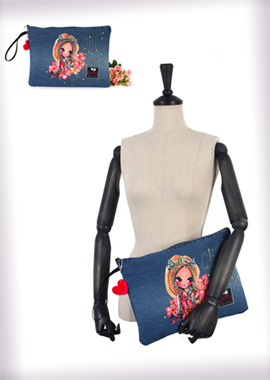 140-CB Denim Clutch Bag데님 클러치백