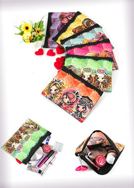 114-MKPMink Multi Pouch/Cosmetic Pouch밍크 멀티파우치/코스메틱파우치